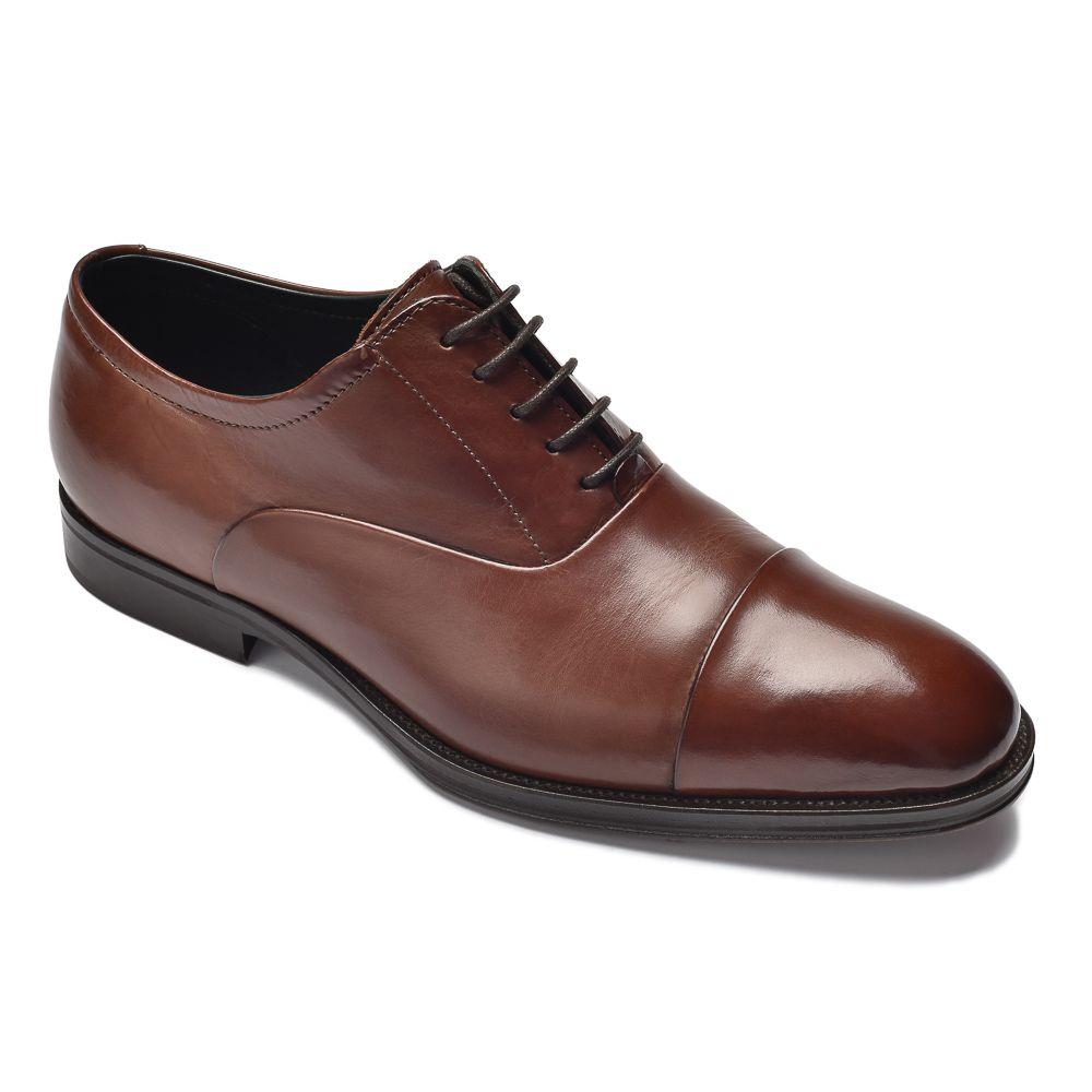 1183ab48005a1 Eleganckie brązowe skórzane buty męskie typu Oxford