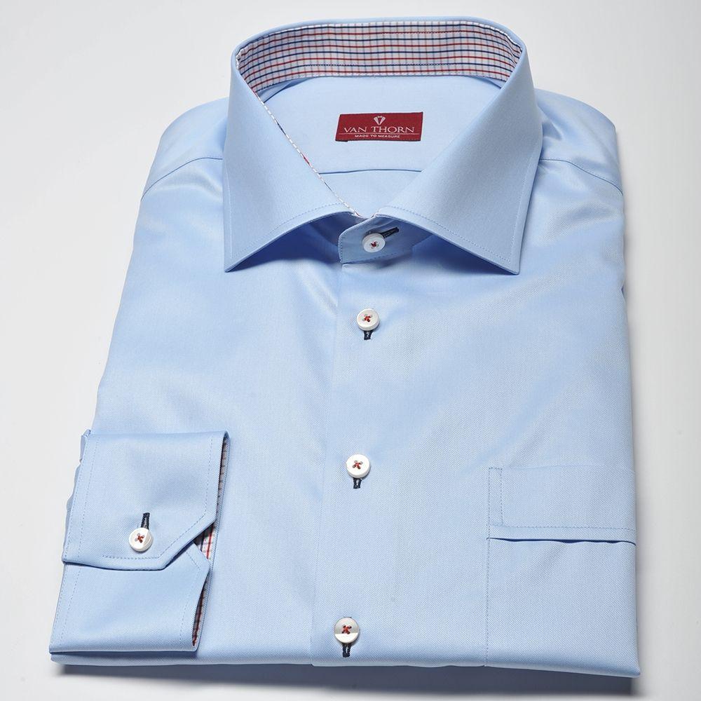 1759f329fb Elegancka błękitna koszula męska VAN THORN z włoskim kołnierzykiem – SLIM  FIT
