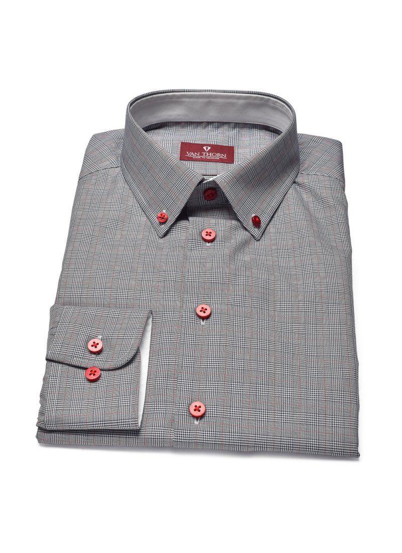 f5a02ebb9ae2ed Elegancka koszula VAN THORN w kratkę księcia Walii - Van Thorn