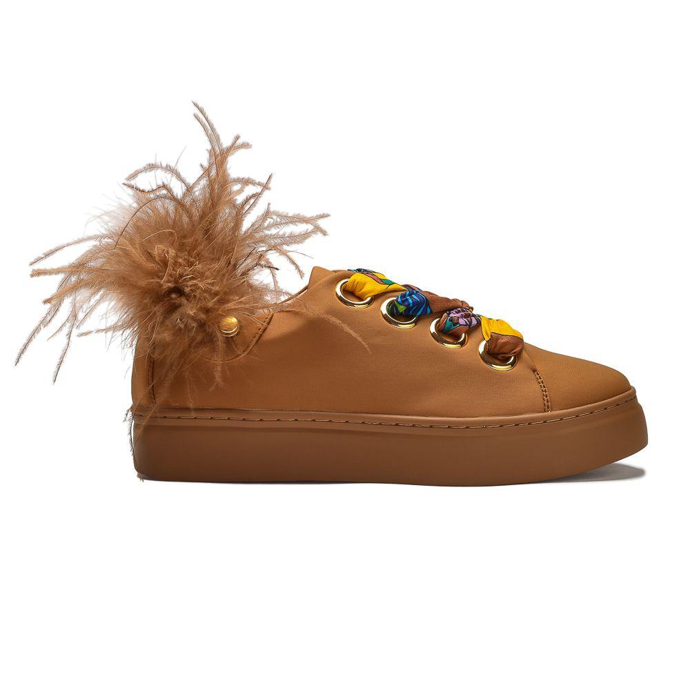 sneakersy piórka kolorowe wstążki Movie's
