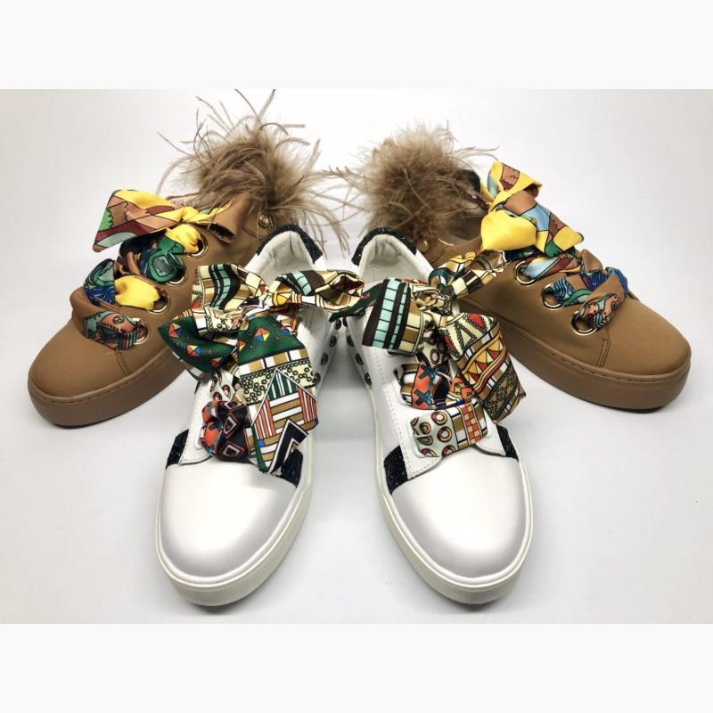 sneakersy ze wstążką