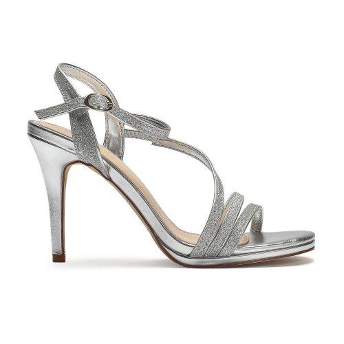 sandałki glamour srebrne Migato