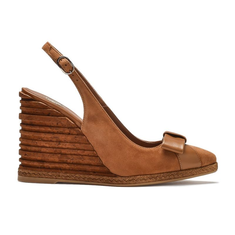 skórzane sandały na koturnie Pablo Gilabert