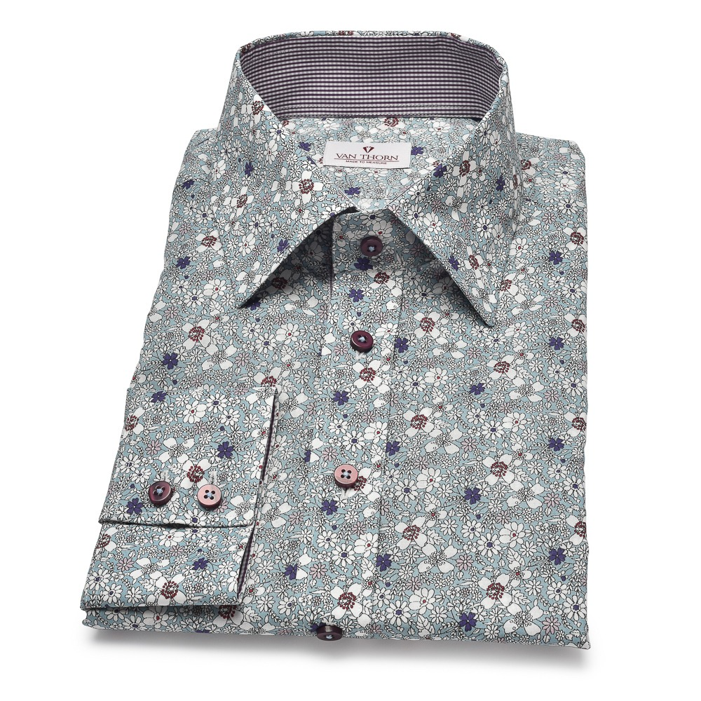 koszula w kwiaty na miarę